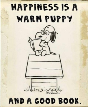 happiness-is-a-warm-puppy-and-a-good-book