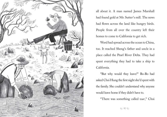 Interior illus © 2020 Claire Powell from BO-BO'S CAVE OF GOLD by Pam Berkman and Dorothy Hearst_pp 26-27